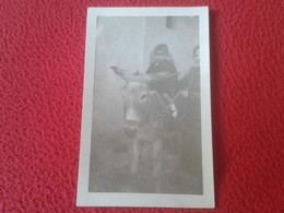 ANTIGUA POSTAL FOTOGRÁFICA FOTO FOTOGRAFÍA POSTCARD NIÑO BOY CHILD EN BURRO BURRITO DONKEY ASNO VER. POST CARD POSTCARD - Burros