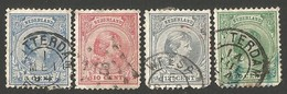 Netherlands. 1891 -1893 Queen Wilhelmina. Cancelled - Period 1891-1948 (Wilhelmina)