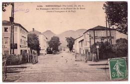 1112 - Retournac ( Hte-Loire ) - Le Passage à Niveau Et La Place De La Gare -n°4184 - - Retournac