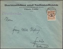 338Pa Korbdeckel-Muster 3 Pf Als EF Orts-Drucksache Nationalbank FULDA 5.4.1924 - Monedas