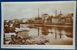 CROATIA, OSIJEK, WINTER PORT PICTURE POSTCARD 1930 RARE!!!!!!!!!!! - Croatia