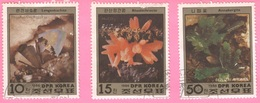 Block Of Stamps Of North Korea - Minerals (3 Stamps - Full Serie) - Korea, North