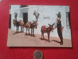 TARJETA POSTAL POST CARD 1083 COSTA DE SOL MIJAS MÁLAGA PARADA DE BURROS TAXI BURRO BURRITO ESCRITA. DONKEY DONKEYS VER - Anes