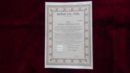 Japan - 1993 - 4 Inhaber-Optionsscheine - Keiyo Co., Ltd, Chiba City - Look Scan - Actions & Titres