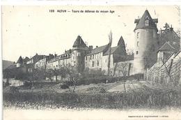 AUTUN .128. TOURS DE DEFENSE DU MOYEN AGE . ECRITE AU VERSO - Autun