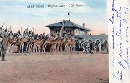 ALEP BAGDAD GARE COTE OUEST (CARTE COLORISEE) - Iraq