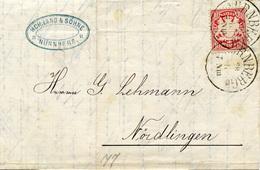 (Lo1906) Altdeutschland Brief Bayern St. Nürnberg N. Nördlingen - Germany
