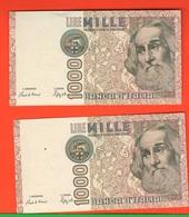 1.000 1000 Lire 1988 Marco Polo Numeri CONSECUTIVI - [ 2] 1946-… : Républic