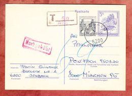 P 465 Bischofsmuetze + Wien Heiligenstadt, Jenbach Nach Muenchen, Nachgebuehr, 1984 (49992) - Interi Postali