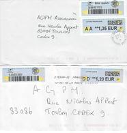 2 MODELES  LETTRE SUIVIE. Nouveau Sticker Suivi Lettre Prioritaire.(Période Ciappa) - Marcophilie (Lettres)