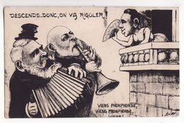 Illustrateur  MILLE   Caricature Politique   Au Dos Lithographie Aquarellée De ORENS   Tirage Limité 100 Exemplaires - Mille