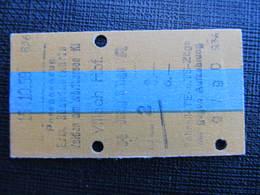 Fahrkarte ÖSTERREICH Velden - Villach 1959 ? // D*31320 - Treni