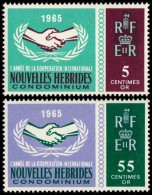 ~~~ New Hebrides 1965 - Cooperation Year - MI. 222/223 ** MNH - CV 15.00 Euro ~~~ - Franse Legende