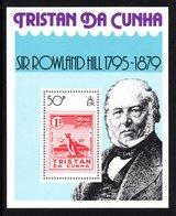 TRISTAN DA CUNHA 1979 Death Centenary Of Sir Rowland Hill: Miniature Sheet UM/MNH - Tristan Da Cunha