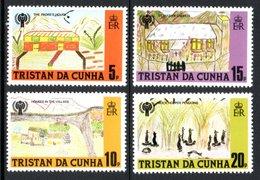 TRISTAN DA CUNHA 1979 International Year Of The Child/Children's Drawings: Set Of 4 Stamps UM/MNH - Tristan Da Cunha