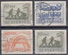 SUECIA 1956 Nº 411/13 + 411a USADO - Sweden
