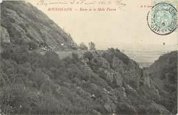 -dpts Div.-ref-YY954- Saone Et Loire - Roussillon - Roche De La Male Pierre - Carte Bon Etat - - Frankrijk