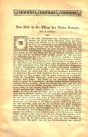 Das Kind In Der Pflege Des Roten Kreuzes /Artikel, Entnommen Aus Kalender / 1910 - Books, Magazines, Comics