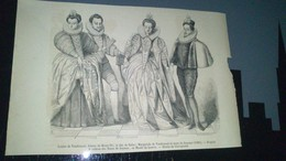 Affiche (gravure) - Louise De Vaudemont Femme De Henri III  - Le Duc De Guise ............. - Affiches