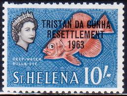 TRISTAN DA CUNHA 1963 SG #67 10sh MNH Teeth Faults - Tristan Da Cunha