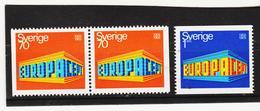 AUA809 SCHWEDEN 1969 Michl 634 DI/Dr + 635 ** Postfrisch ZÄHNUNG SIEHE ABBILDUNG - Schweden