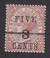 British Honduras, Scott #35, Mint Hinged, Victoria Surcharged, Issued 1891 - Honduras Britannique (...-1970)