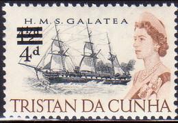 TRISTAN DA CUNHA 1967 SG #108 4d On 4½d MNH - Tristan Da Cunha
