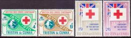 TRISTAN DA CUNHA 1970 SG #129-32 Compl.set MLH Red Cross - Tristan Da Cunha