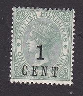 British Honduras, Scott #47, Mint Hinged, Victoria Surcharged, Issued 1892 - British Honduras (...-1970)