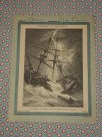 Couverture Illustrée D'ancien Cahier D'écolier - Navire Le Moise Fendu Par La Foudre - Sciences Pittoresques Fin 19e - Blotters