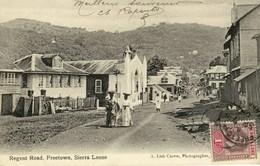 CPA (  AFRIQUE)  Regent Road Freetown Sierra Leone  (b Bur ) - Sierra Leone
