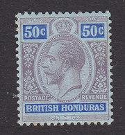 British Honduras, Scott #81, Mint Hinged, King George V, Issued 1913 - British Honduras (...-1970)