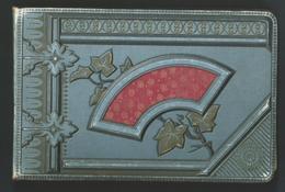 Album Art Déco.Couverture Genre Toile Repoussée Et Soie Rouge. 50 Pages.Magnifiques Dessins, Poêmes, Aquarelles,10 Scans - Collections