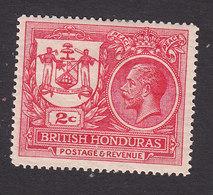 British Honduras, Scott #89, Mint Hinged, King George V, Issued 1921 - British Honduras (...-1970)