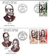 Afars Et Issas, 1973, Célébrités : Rontgen, Jenner, Koch, PA 91, 92, 93 FDC 12 Octobre 1973 Djibouti - Stamps