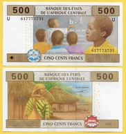 Central African States 500 Francs Cameroun (U) P-206Ud 2002 UNC - Central African States