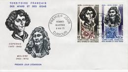 Afars Et Issas, 1973, Copernic, Molière, PA 87 Et 88. FDC 9 Mai 1973 Djibouti - Stamps