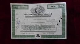 Canada - 1975 - Massey-Ferguson Limited, Toronto - 100 Shares - No.C518065 - Look Scans - Landwirtschaft