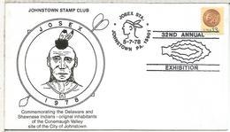 ESTADOS UNIDOS USA 1978 JOHNSTOWN INDIO NATIVO NATIVE AMERICAN - American Indians