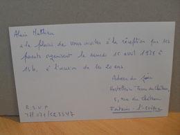 Carton D'invitation Fontaine L'Evêque - 1978 - Cartoncini Da Visita