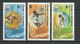 DJIBOUTI Scott C200-C201 Yvert PA204-PA206 (3) ** Cote 3,75 $ 1984 - Djibouti (1977-...)
