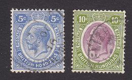 British Honduras, Scott #97-98, Used, King George V, Issued 1922 - British Honduras (...-1970)