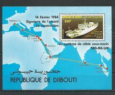 DJIBOUTI Scott C192 Yvert BF3 (bloc) ** Cote 11,00 $ 1984 - Djibouti (1977-...)