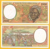 Central African States 2000 Francs Central African Republic (F) P-303Ff 1999 UNC - Central African States