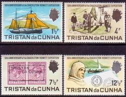 TRISTAN DA CUNHA 1971 SG #149-52 Compl.set MNH Shackleton-Rowett Expedition - Tristan Da Cunha