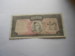IRAN   - 500   RIALS    - REZA PAHLAVI - Irán