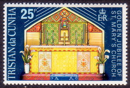 TRISTAN DA CUNHA 1973 SG #176 25p MNH St.Mary's Church - Tristan Da Cunha