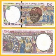 Central African States 5000 Francs Equatorial Guinea (N) P-504Nf 2000 UNC - Central African States