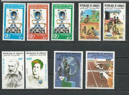 DJIBOUTI Scott 594-6, 599-0, 601-2, 608-9 Yvert 600-602, 605-605, 607-608, 614-615 (9) ** Cote 10,00 $ 1985 - Djibouti (1977-...)