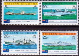 TRISTAN DA CUNHA 1978 SG #250-53 Compl.set MLH Royal Fleet Auxiliary Vessels - Tristan Da Cunha